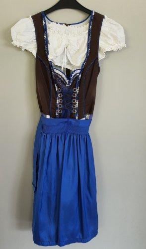 Spieht & Wensky Dirndl blauw-bruin