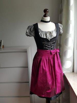 Original Steindl Vestido Dirndl negro-magenta