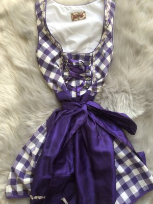 Stockerpoint Dirndl dark violet-white