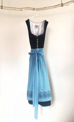 Trachten-Mad'l Dirndl black-turquoise cotton