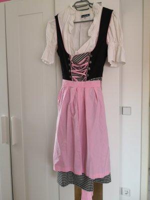 Oscartrachten Vestido Dirndl negro-rosa