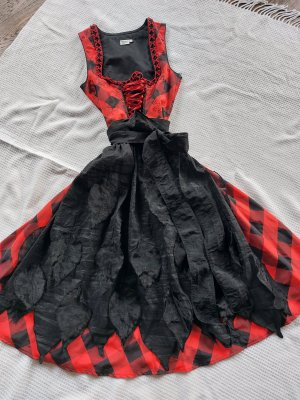 Distler Abito corpetto nero-rosso