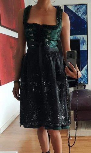 edel heiss Sukienka z gorsetem leśna zieleń-ciemnozielony Poliester