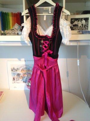 Dirndl von Landhaus, schwarz/pink
