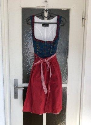 Berwin & Wolff Corsage Dress blue-dark red