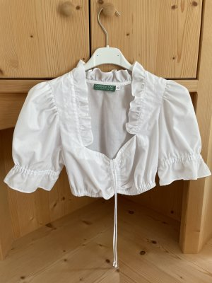 Country Line Ruffled Blouse white cotton