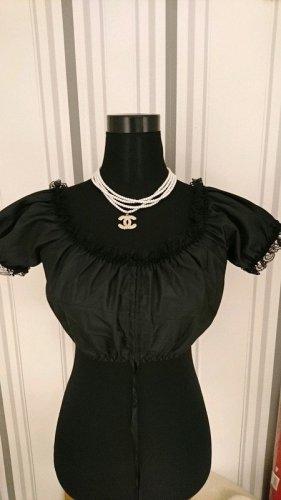 Dirndline Blouse bavaroise noir polyester