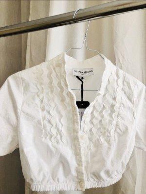Kinga Mathe Tradycyjna bluzka biały