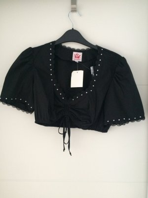 Spieth & Wensky Traditional Blouse black cotton