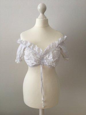 Almenrausch Folkloristische blouse wit Katoen