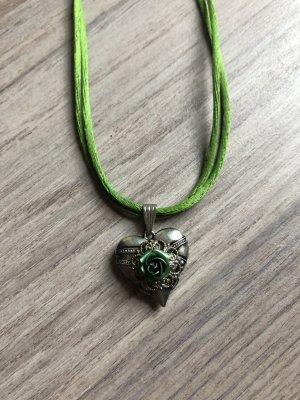 Chaîne en argent argenté-vert
