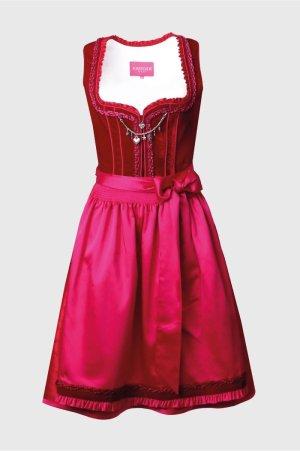 Krüger Dirndl Robe à corsage rouge brique-rouge