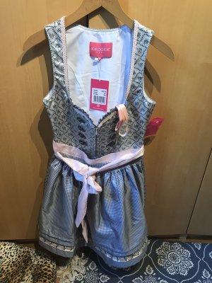 Krüger Dirndl Robe à corsage gris clair-argenté