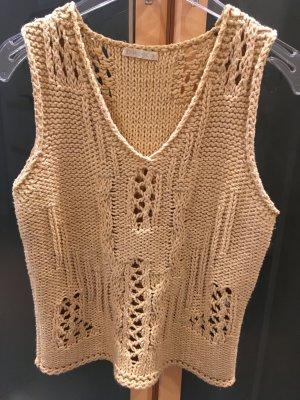 Dirocco Crochet Top sand brown cotton