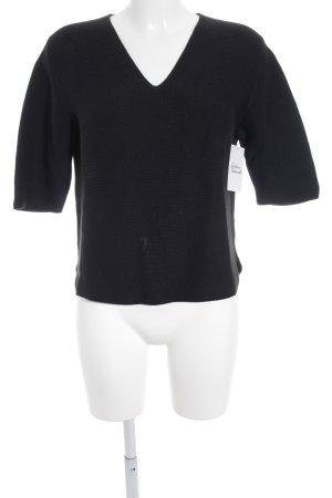 Dirocco V-Ausschnitt-Pullover schwarz Casual-Look