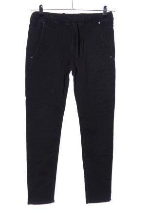 Pantalon strech noir style décontracté