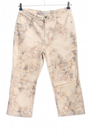 Dismero 3/4 Length Trousers cream allover print casual look