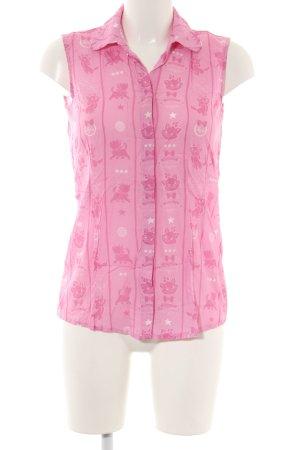 Disney ärmellose Bluse pink Motivdruck Casual-Look