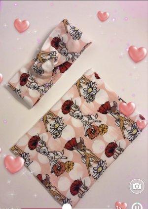 Disney Écharpe d'été rouge carmin-crème