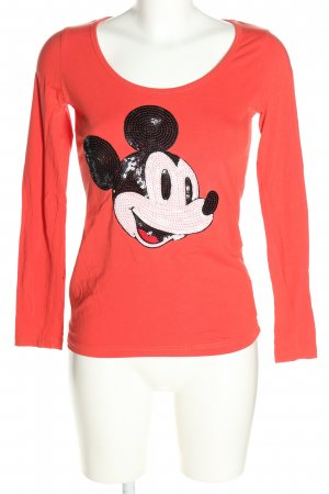 Disney Longsleeve rot Motivdruck Casual-Look