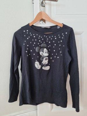 Disney Top à manches longues noir-argenté