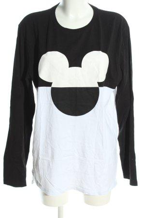 Disney Longsleeve schwarz-weiß Motivdruck Casual-Look