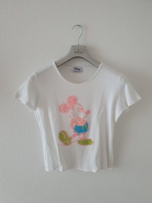 Disney Mickey Maus Pailletten Glasperlen aufwendig m medium T-Shirt Rundhals Top Oberteil