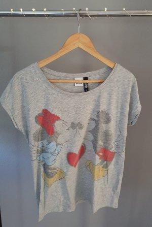 Disney Mickey Minnie Mouse Maus grau Shirt T-Shirt Comic Kiss Colloseum