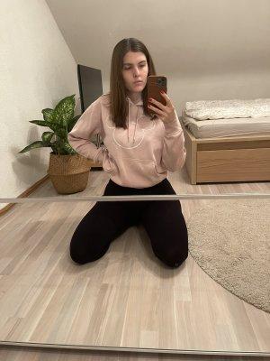 H&M Sweatshirt met capuchon lichtroze