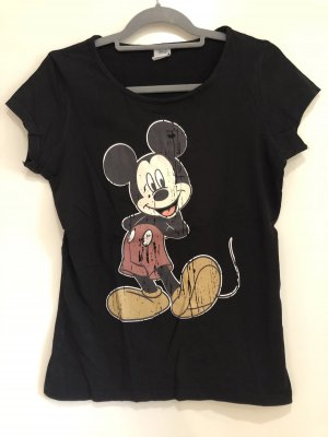 Disney Micky Maus T-Shirt schwarz, Gr. M/L