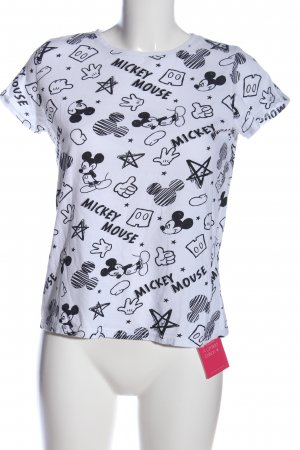 Disney Print-Shirt weiß-schwarz Motivdruck Casual-Look