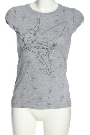 Disney Print-Shirt hellgrau meliert Casual-Look