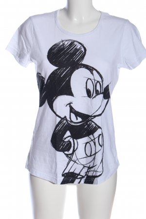 Disney Print Shirt white-black themed print casual look