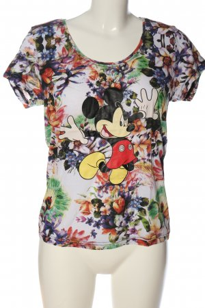 Disney Print-Shirt Blumenmuster Casual-Look