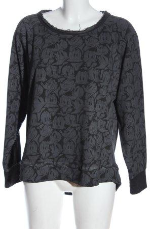Disney Crewneck Sweater light grey allover print casual look