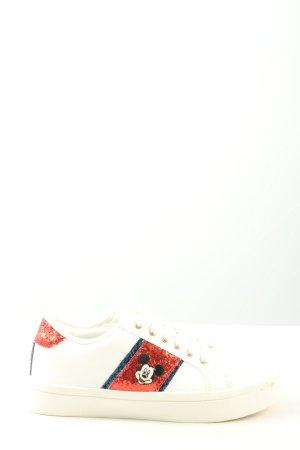 Disney Schnürsneaker Schriftzug gestickt Casual-Look