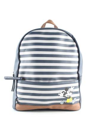 Disney Schulrucksack blau-weiß Motivdruck Casual-Look