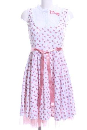 Disney schulterfreies Kleid weiß-pink Allover-Druck klassischer Stil
