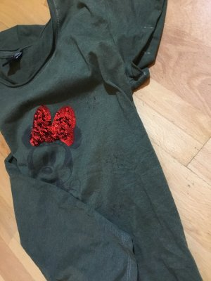 Disney Shirt s 36 Olive Damen XS 34 Minnie Maus damen