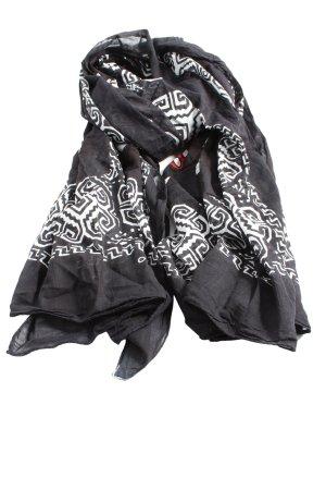 Disney Écharpe d'été noir-blanc motif abstrait style décontracté