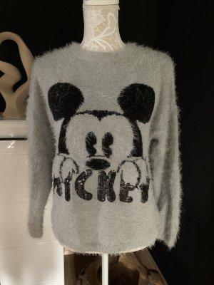 Disney Maglione lavorato a maglia nero-grigio chiaro
