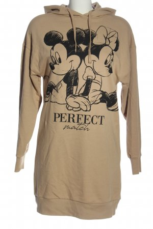 Disney Sweatkleid creme-schwarz Motivdruck Casual-Look