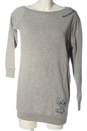 Disney Sweatshirt hellgrau-blau meliert Casual-Look