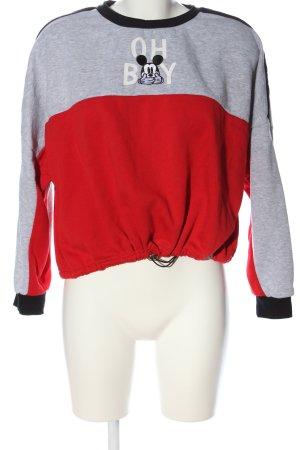 Disney Sweat Shirt red-light grey flecked casual look