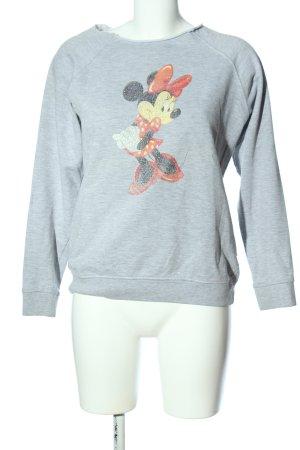 Disney Sweatshirt hellgrau meliert sportlicher Stil