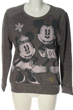 Disney Felpa grigio chiaro stampa integrale stile casual
