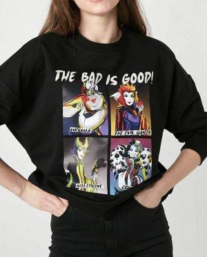 "Disney Sweatshirt ""The bad is good"" größe L Neu"