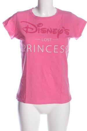 Disney T-Shirt pink Schriftzug gedruckt Casual-Look