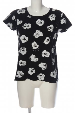 Disney T-Shirt schwarz-weiß Motivdruck Casual-Look