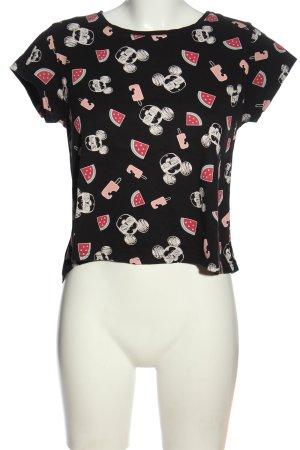 Disney T-Shirt schwarz Allover-Druck Casual-Look